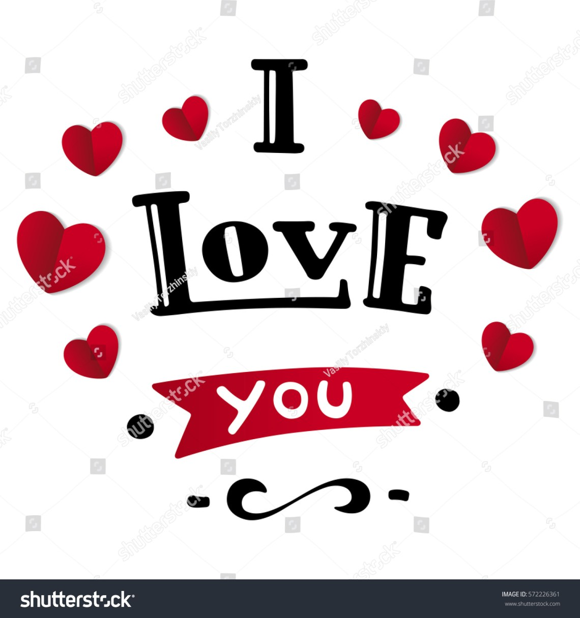 Download Love You Handdrawn Beautiful Inscription Text Stock Vector ...