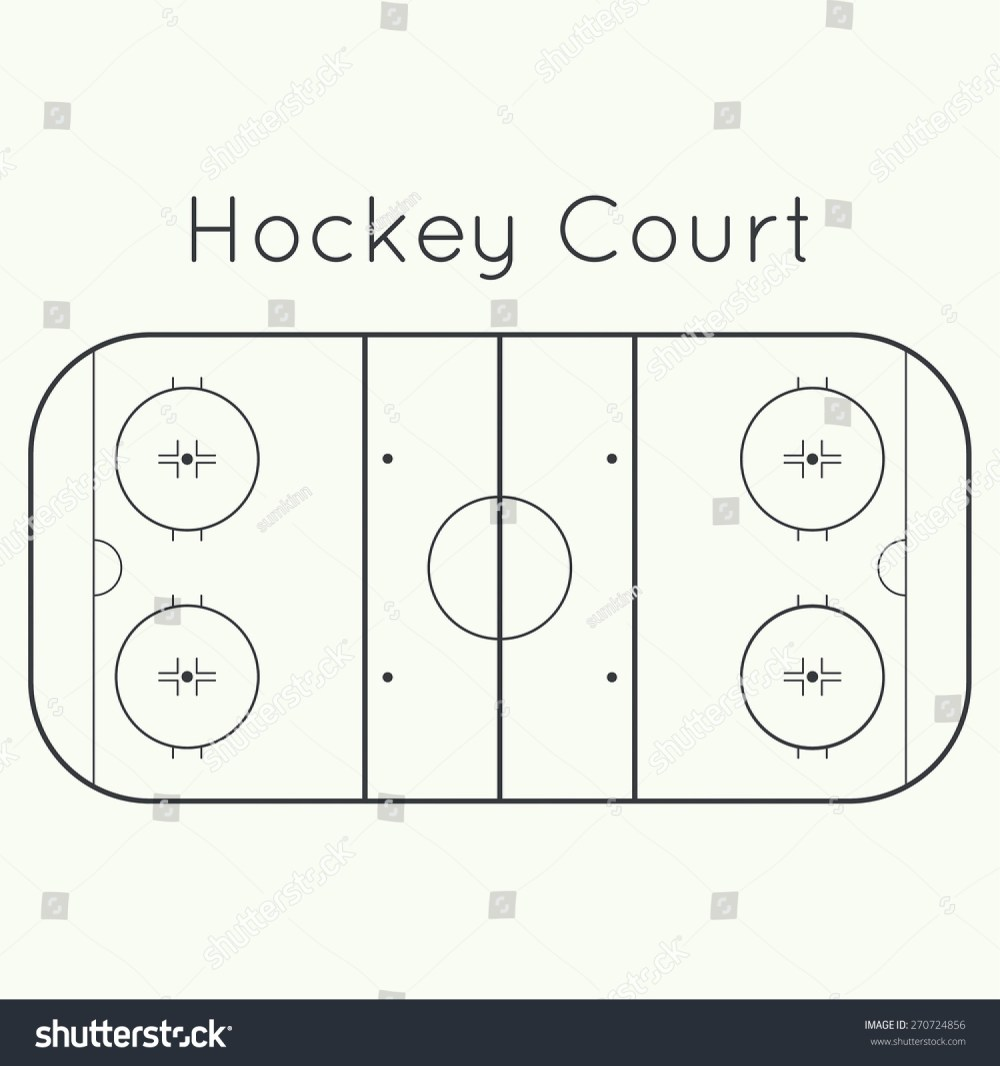 medium resolution of ice hockey rink on a white top view board to parse the tactics of attack
