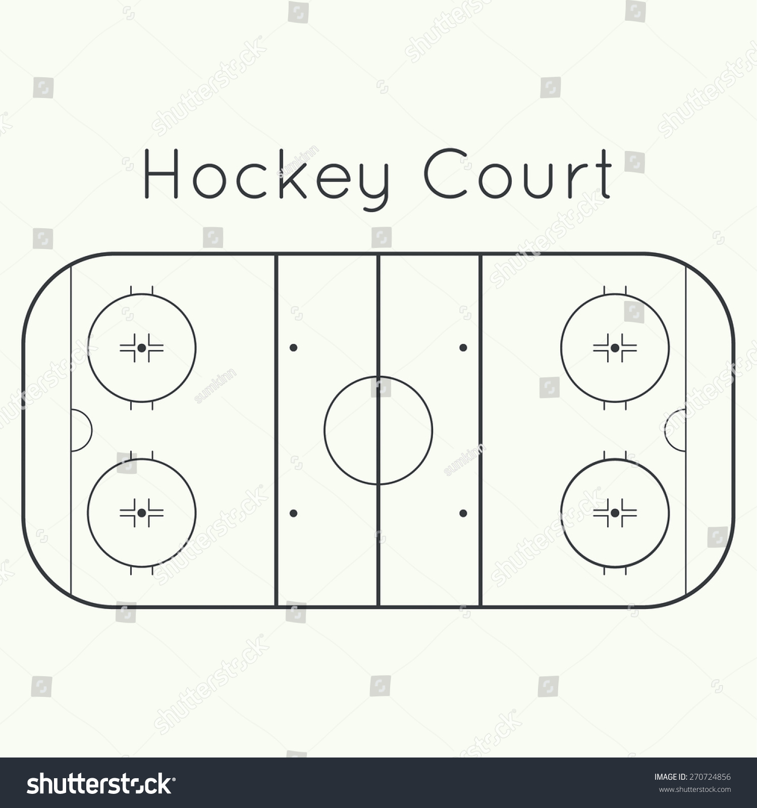 hight resolution of ice hockey rink on a white top view board to parse the tactics of attack
