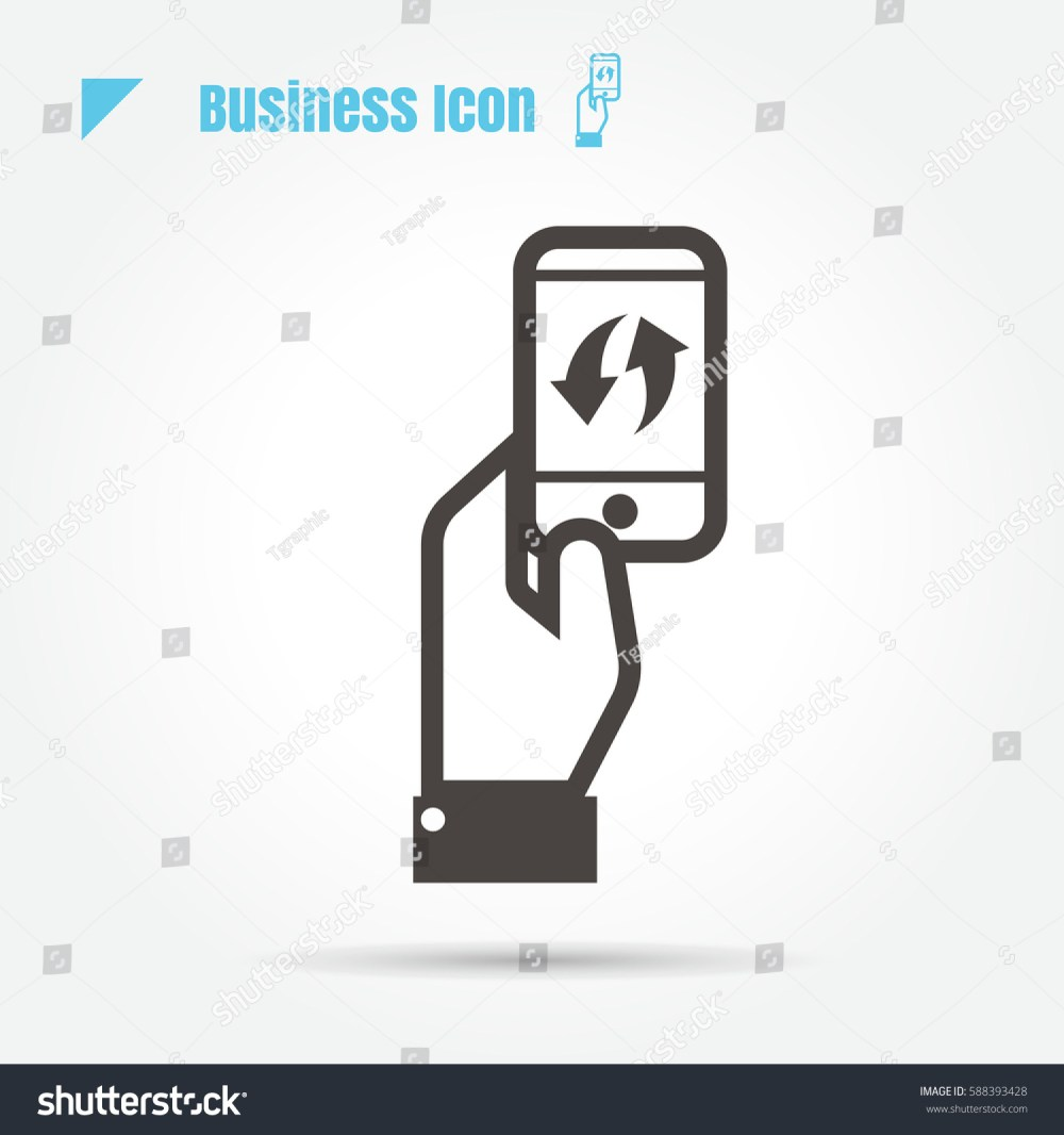 medium resolution of icon business mobile technology innovation exchange illustration isolated sign symbol thin line for web modern