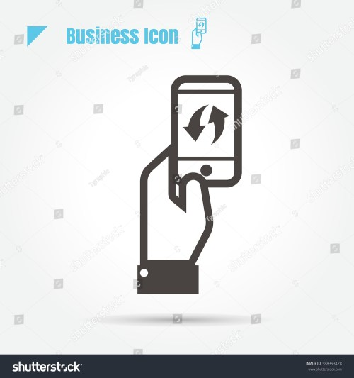 small resolution of icon business mobile technology innovation exchange illustration isolated sign symbol thin line for web modern
