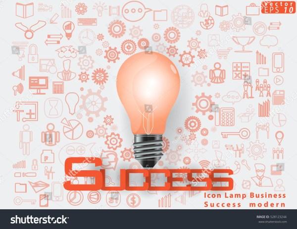 Icon Lamp Business Success Modern Design 库存矢量图 528123244
