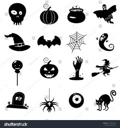 icon set helloween witch hat vector grim reaper scary face pumpkin  [ 1500 x 1600 Pixel ]