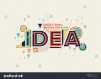 Idea Modern Typography Design Geometrical Style Stock ...