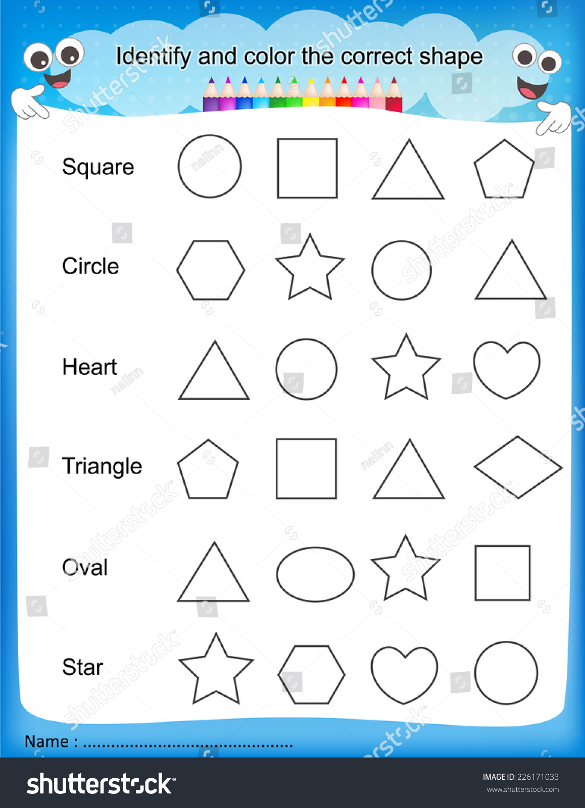 6 Free Printable English Worksheet For Nursery