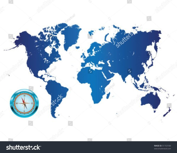 World Compass Vector - Year of Clean Water