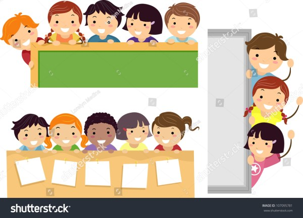 Illustration Featuring School Children Beaming Happily