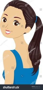 cartoon girl in brown hair