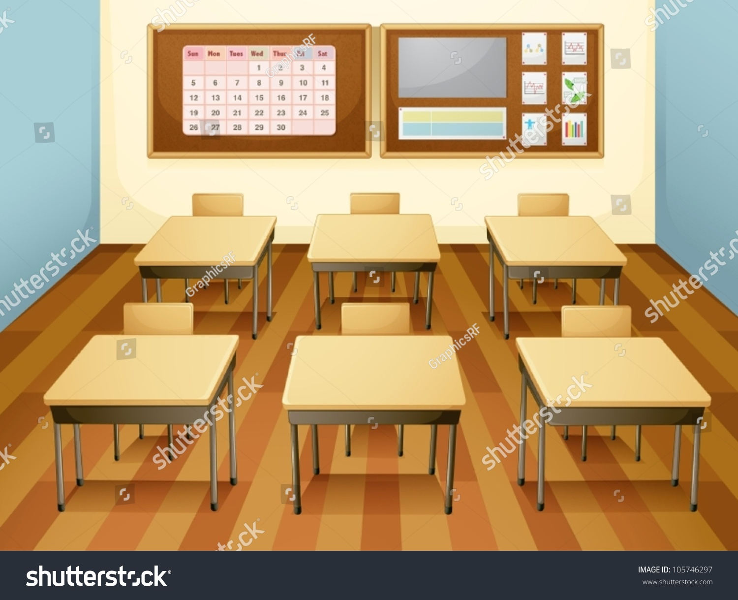 teacher table and chair office low back illustration classroom chairs stock vector 105746297