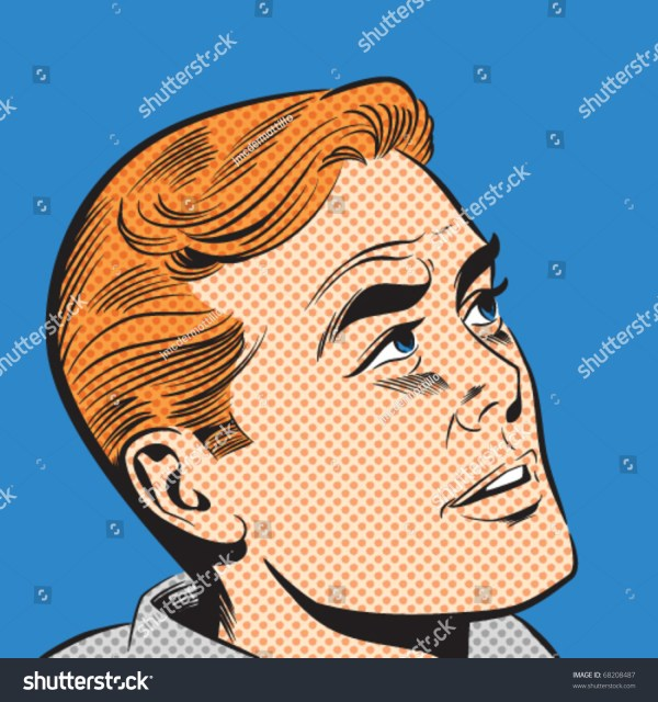Illustration Of Man In Pop Art Comic Style - 68208487