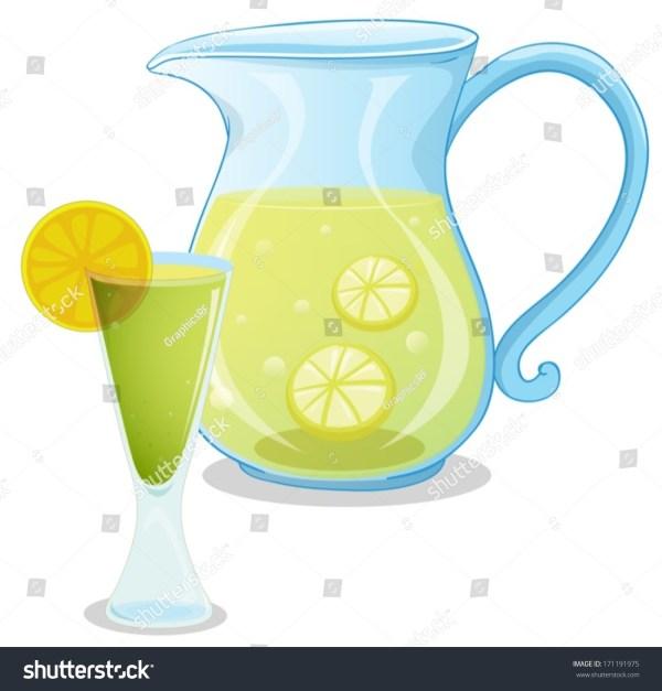 illustration pitcher lemonade