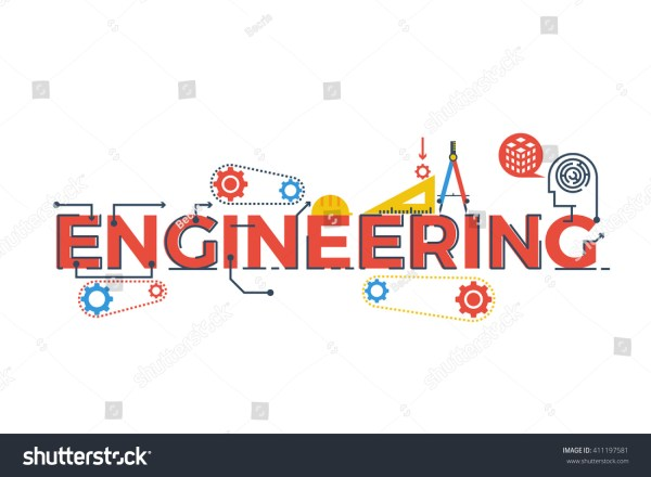 Illustration Engineering Word Stem Science Technology