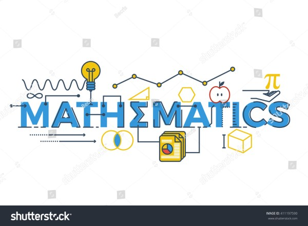 Illustration Mathematics Word Stem Science Technology