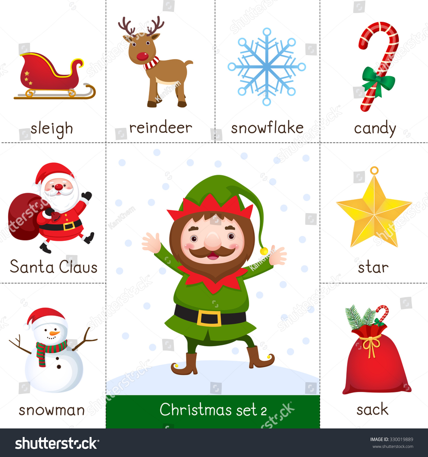Worksheet Santa And Reindeer
