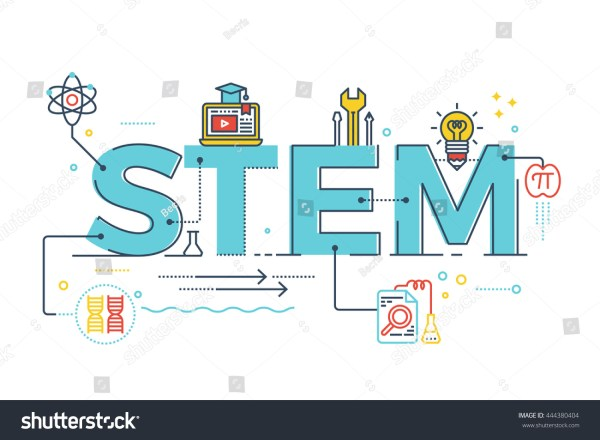 Illustration Stem Science Technology Engineering