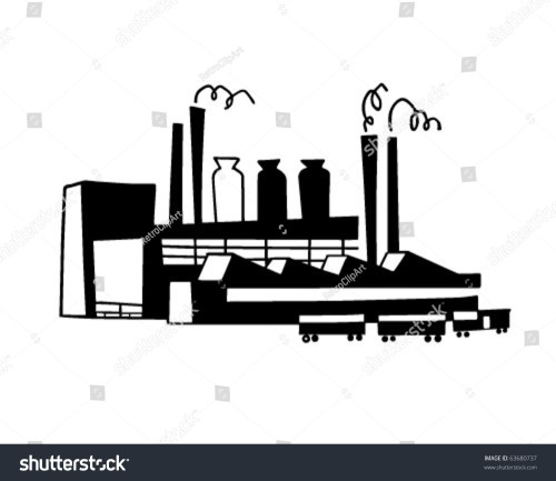 small resolution of industrial plant retro clipart illustration