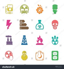 Industry 16 Icons Universal Set Web Stock Vector 353632073