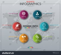 Infographic Business Horizontal Timeline Process Chart