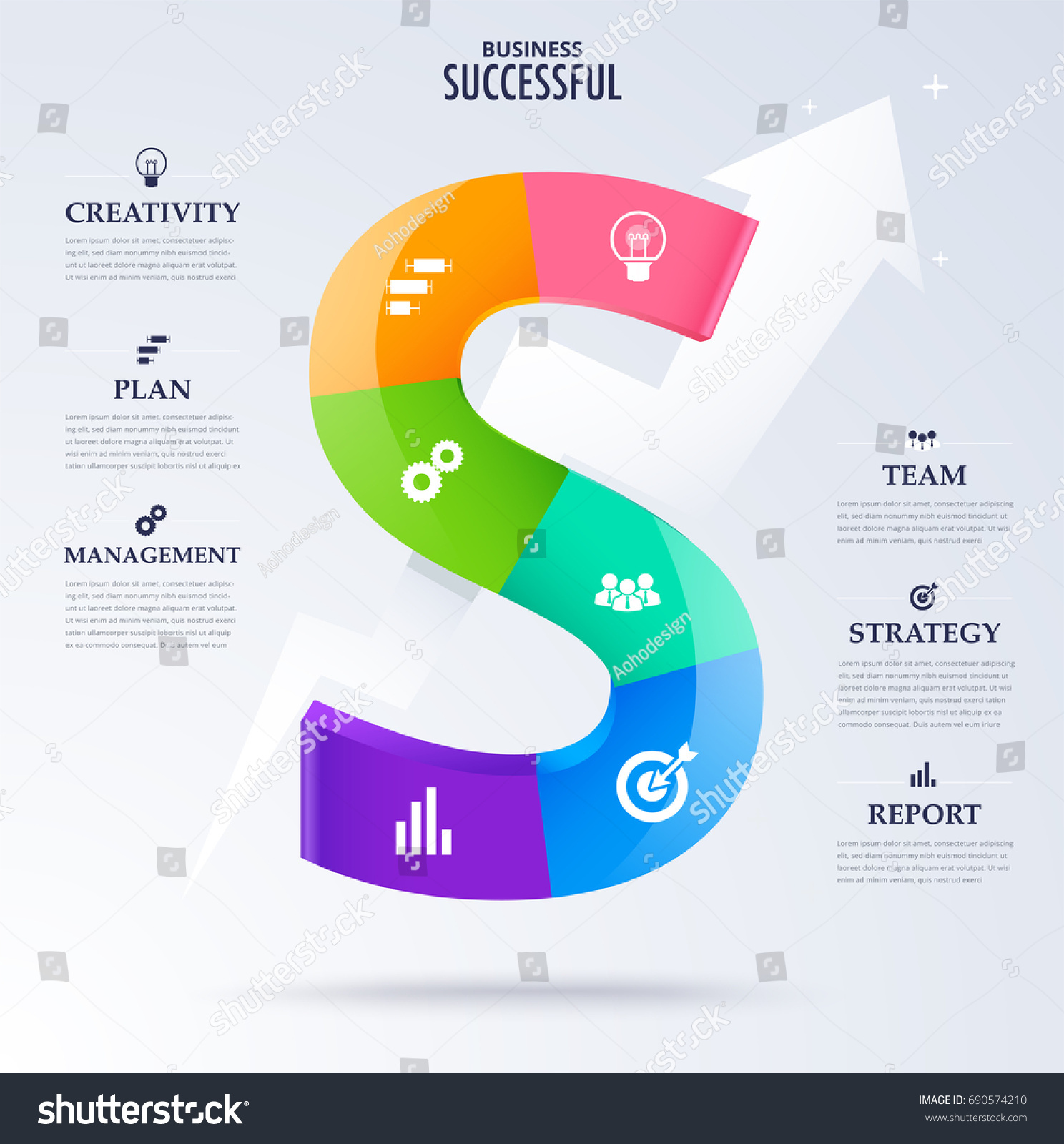 hight resolution of infographic business successful concept character word s for success concept vector diagram