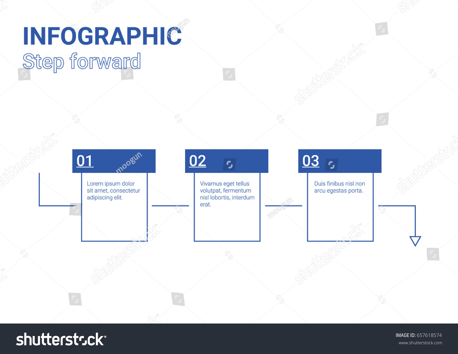 hight resolution of infographic diagram step forward blue box design