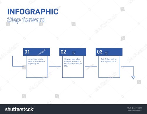 small resolution of infographic diagram step forward blue box design
