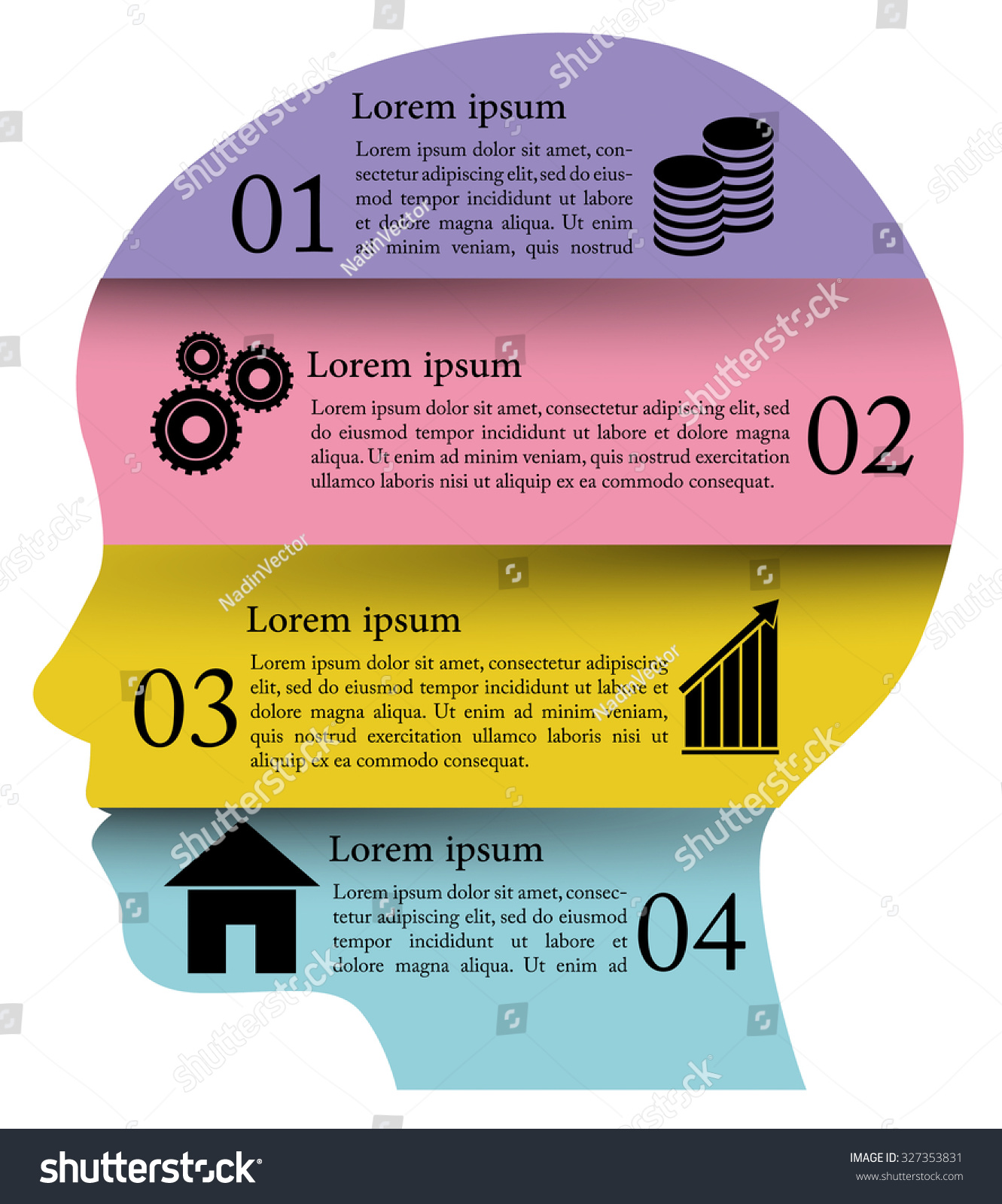 hight resolution of infographic vector human face cycle brainstorming diagram creativity generating ideas minds flow thinking imagination and inspiration concept