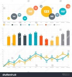 line chart bar chart and circle diagram [ 1500 x 1600 Pixel ]