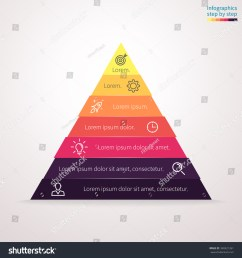 infographics step by step in the form of pyramid triangle with colored sections triangle [ 1500 x 1600 Pixel ]