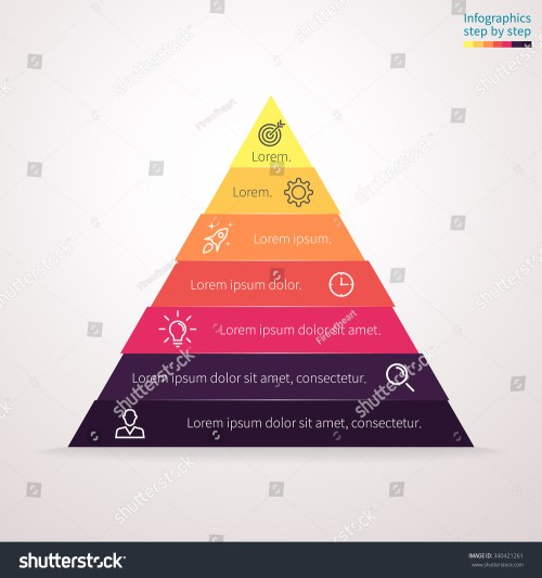 small resolution of infographics step by step in the form of pyramid triangle with colored sections triangle