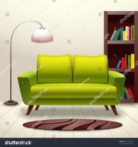 Interior Indoor Living Room Design Sofa Stock Vector ...