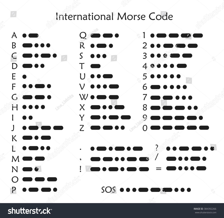 International Morse Code Vector Stock Vector