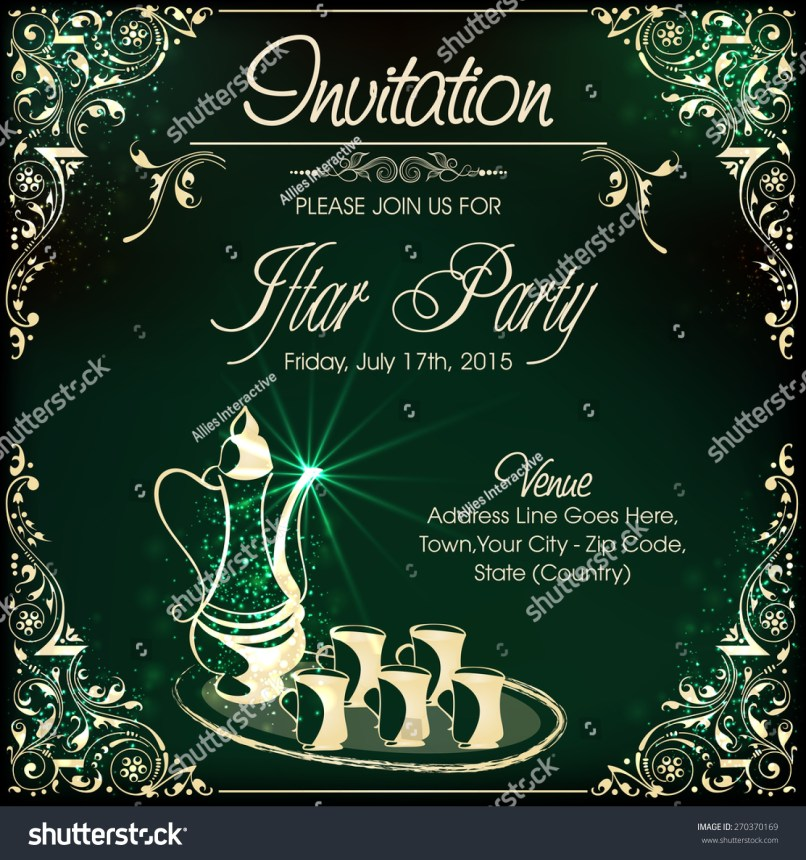Iftar party invitation cards sample inviview invitation card design iftar party celebrations stock vector hd stopboris Image collections