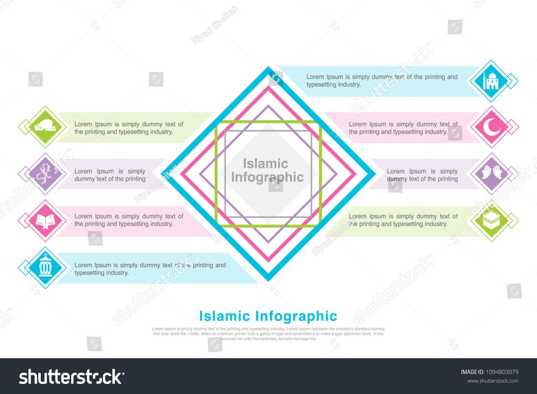 hight resolution of islamic infographic mosque prayer muslim prayer lantern crescent kaaba