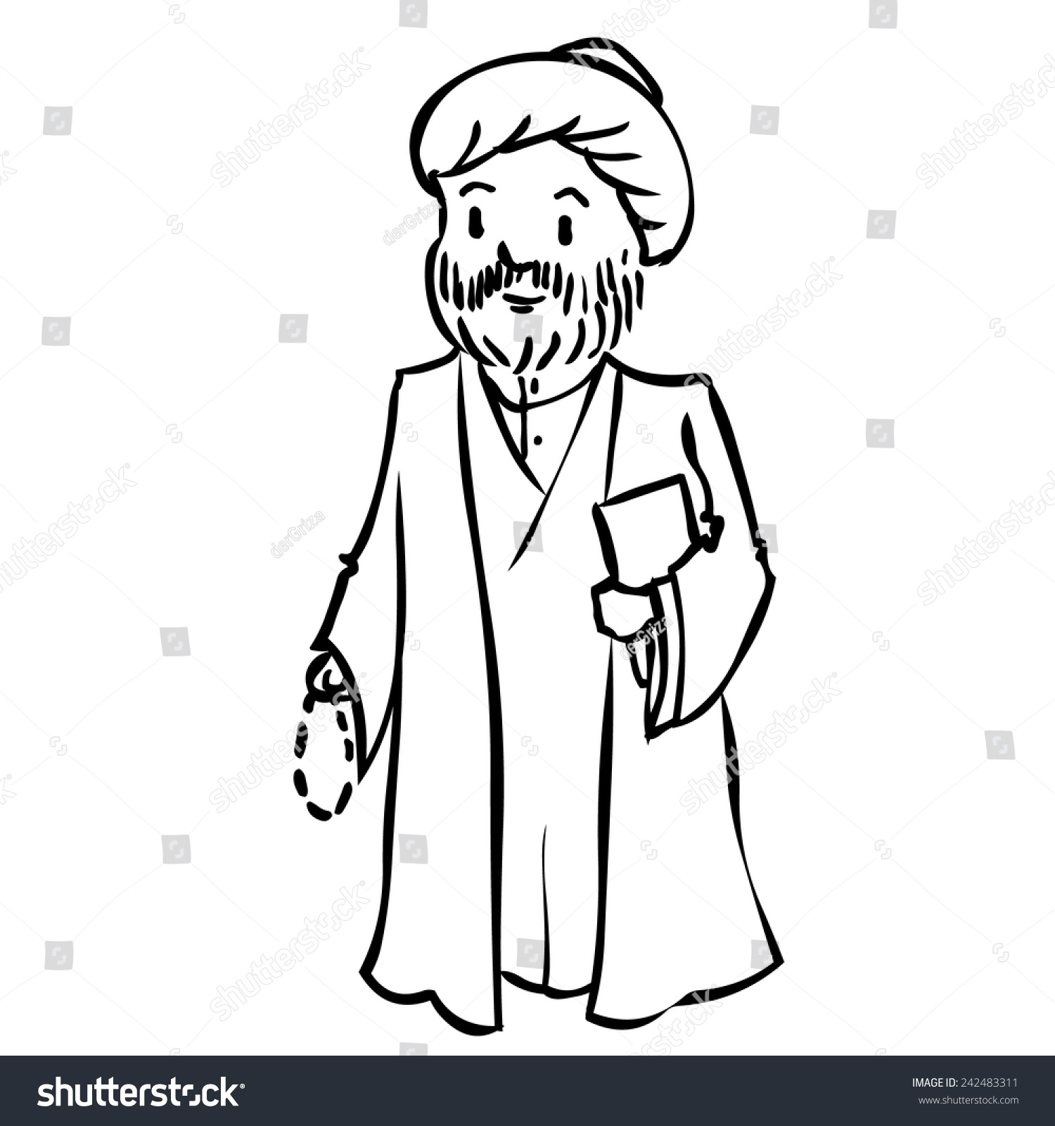 hight resolution of priest clipart