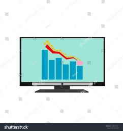 isolated lcd television technology device display business low profit money graph saving to piggy bank [ 1500 x 1600 Pixel ]