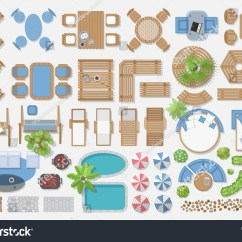 Chair Design Top View Hanging Vancouver Isolated Vector Illustration Outdoor Furniture Landscape