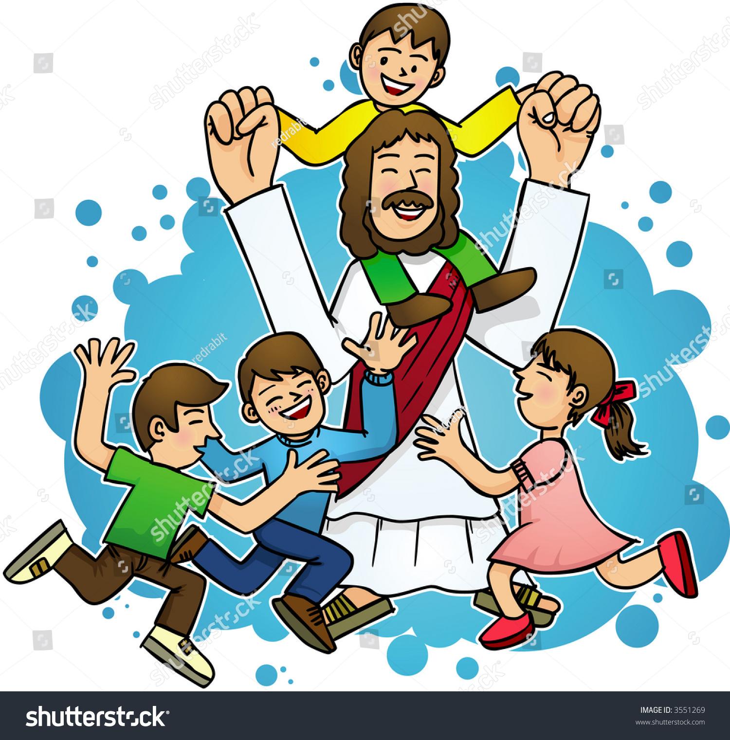 hight resolution of jesus love children