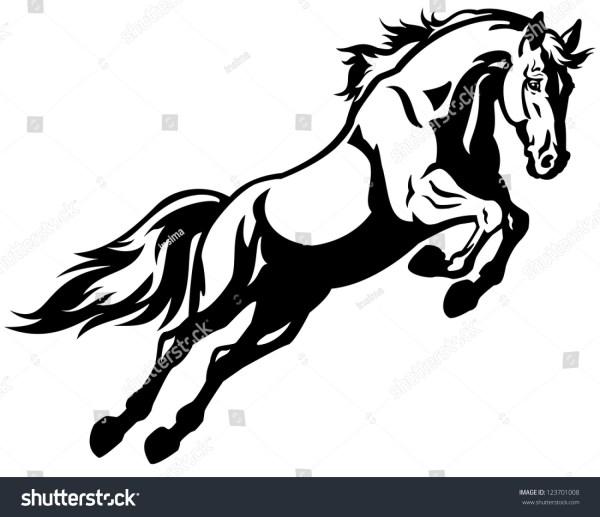 Black Horse Jumping Logo