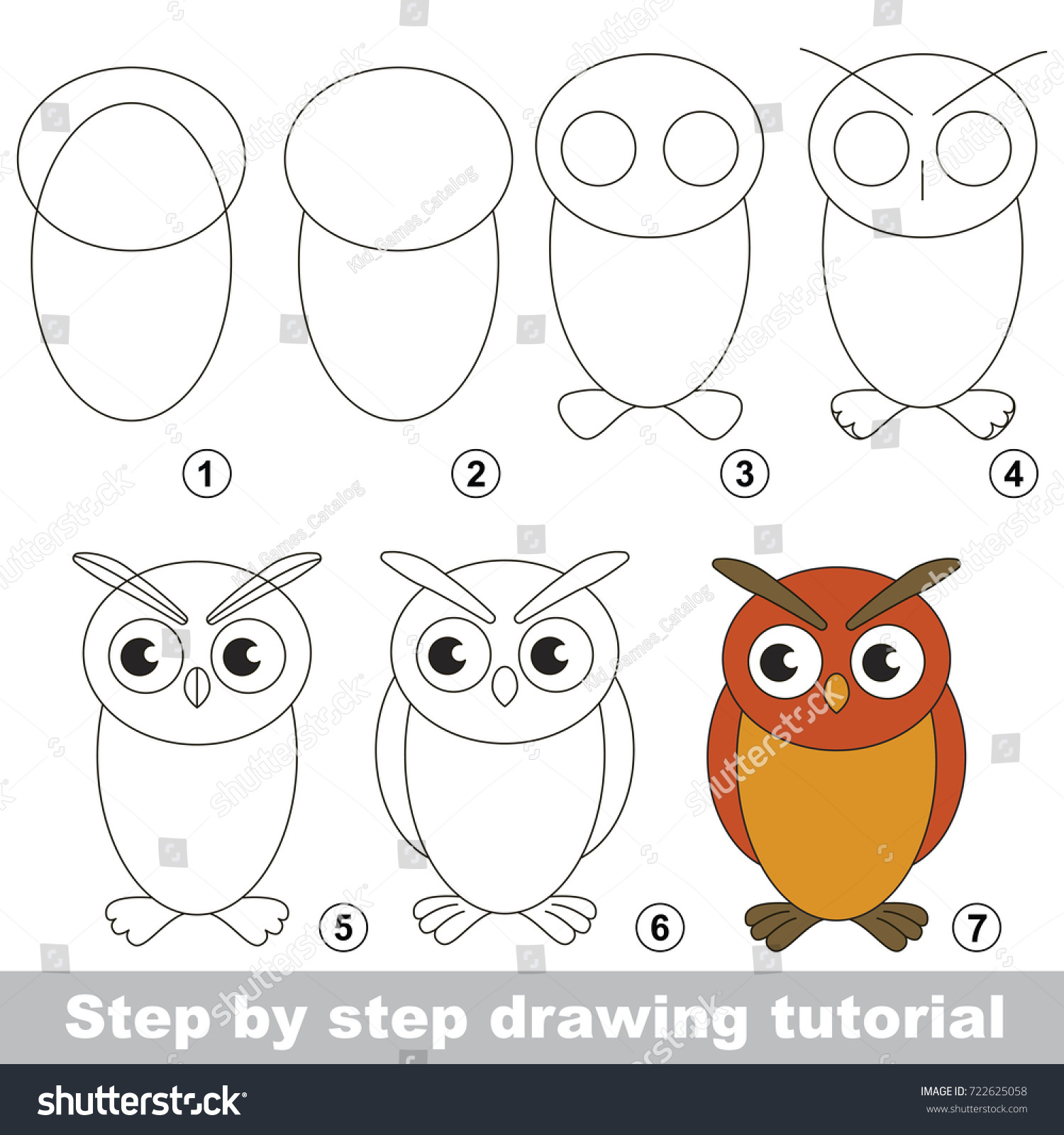 Kid Game Develop Drawing Skill Easy Stock Vector