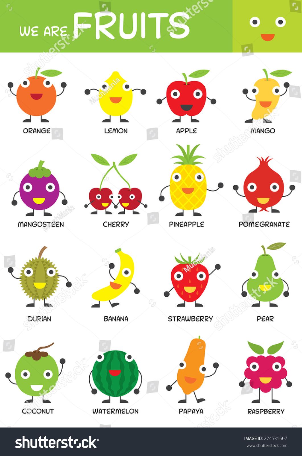 Kids Basic Fruits Chart Kindergarten Preschool Kids