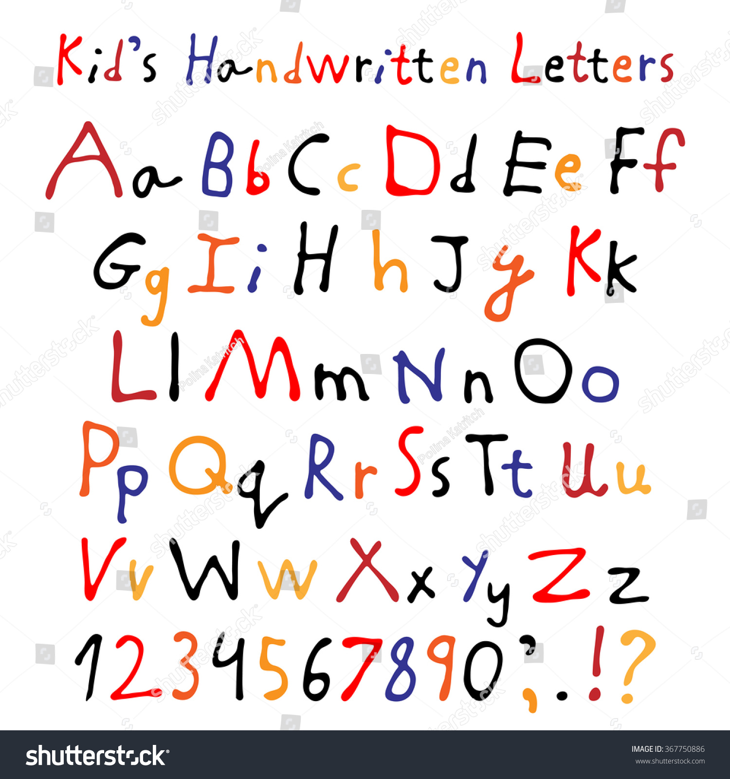 Download Font Child Handwriting Alphabet