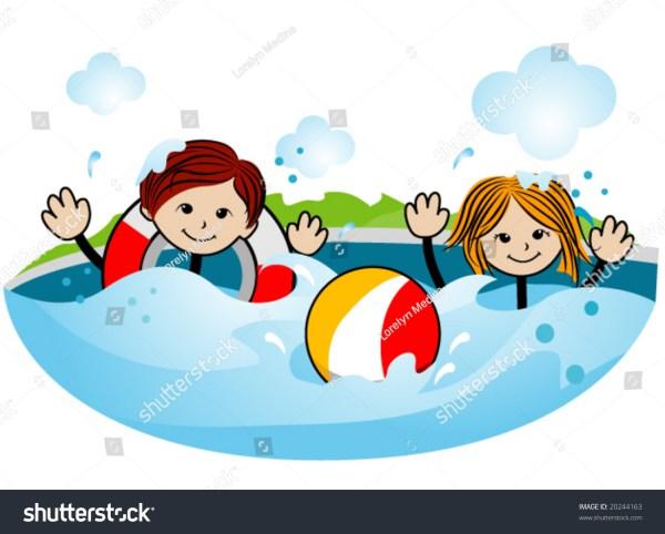 Kids Swimming Vector Stock 20244163 - Shutterstock