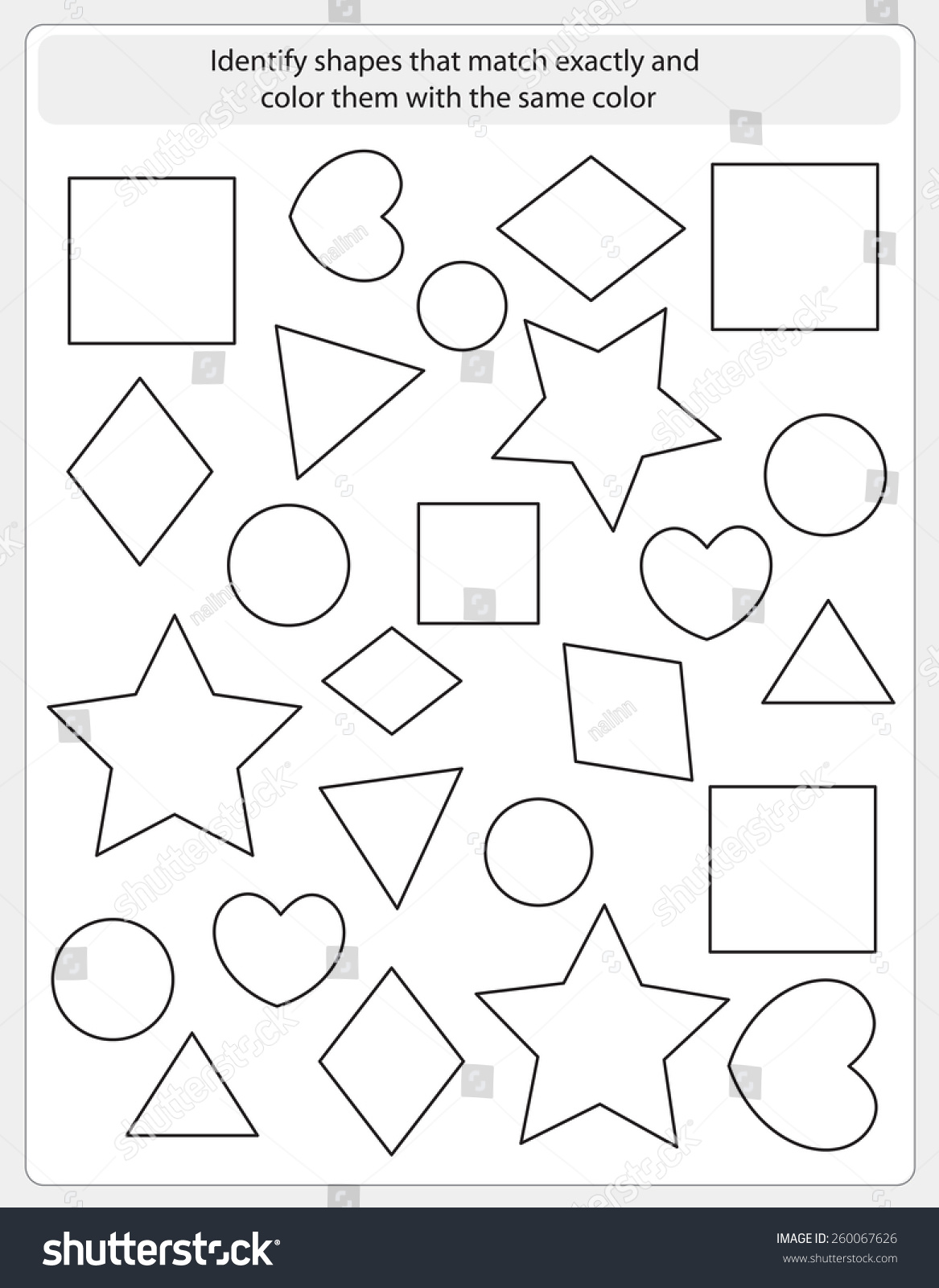 Identifying Colors Worksheet