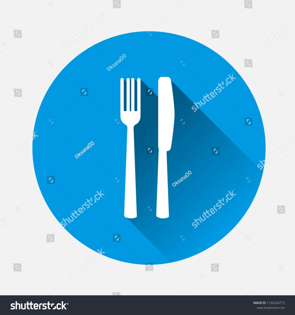 medium resolution of table setting on blue background flat image cutlery icon with long shadow layers grouped for easy editing illustration for your design vector