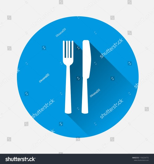small resolution of table setting on blue background flat image cutlery icon with long shadow layers grouped for easy editing illustration for your design vector