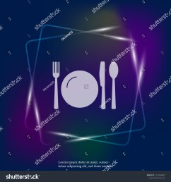 table setting vector neon light icon illustration layers grouped for easy editing illustration for your design vector [ 1500 x 1600 Pixel ]
