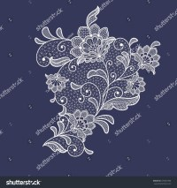 Lace Flowers Decoration Element Stock Vector 376607386
