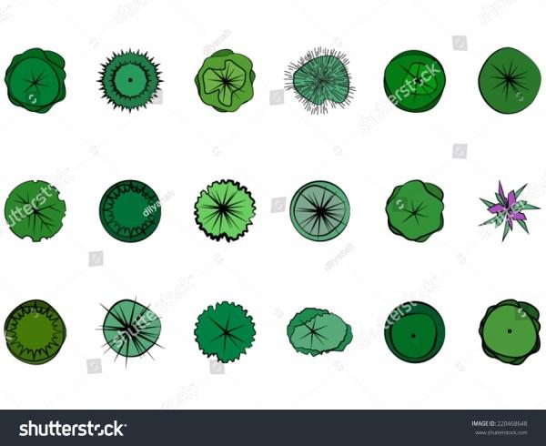 landscape design symbols stock
