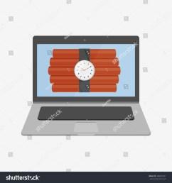 laptop vector illustration icon flat design style dynamite on screen laptop icon macbook mac imac apple laptop vector apple vector macbook vector  [ 1500 x 1600 Pixel ]
