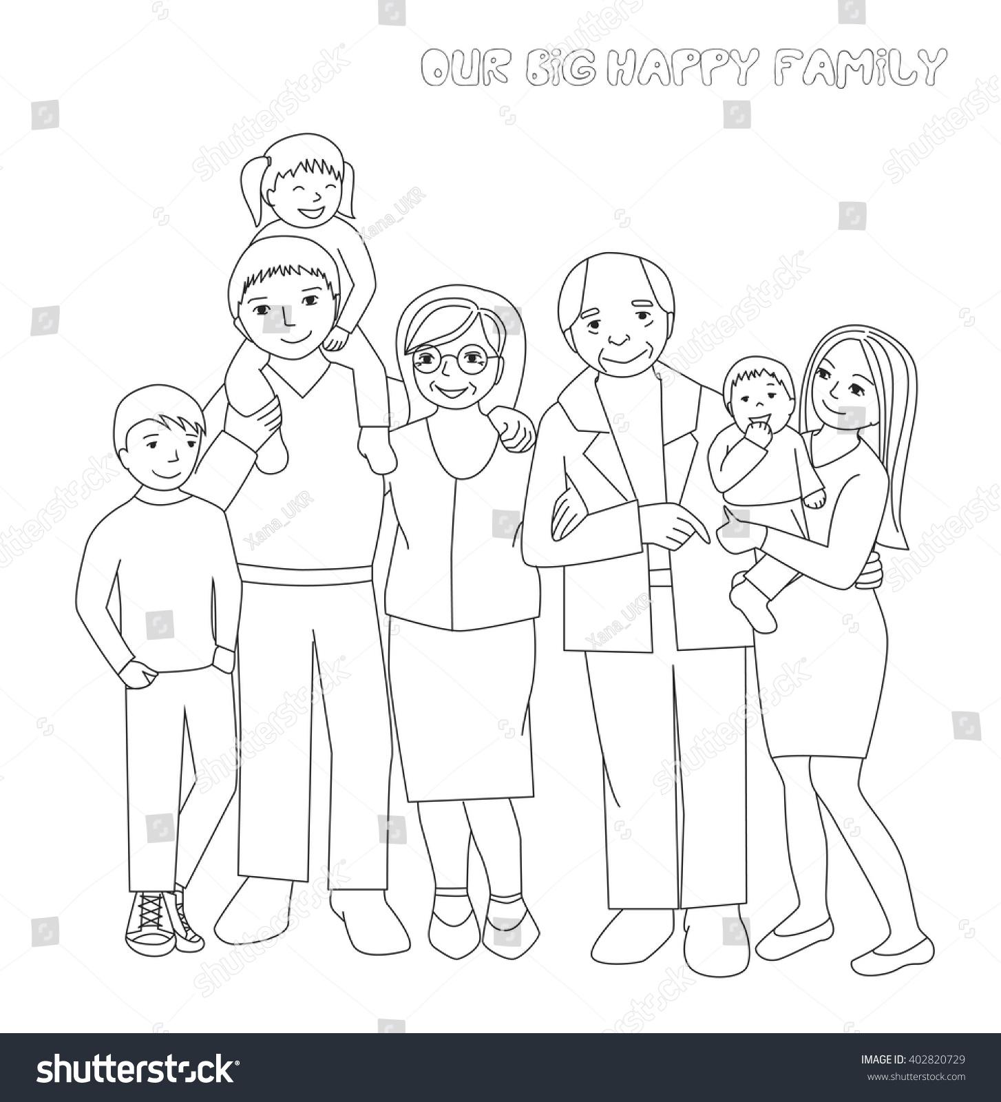 Large Family Portrait Parents Childrengrandparents